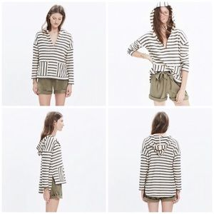 MADEWELL Striped Context Pullover Hoodie M